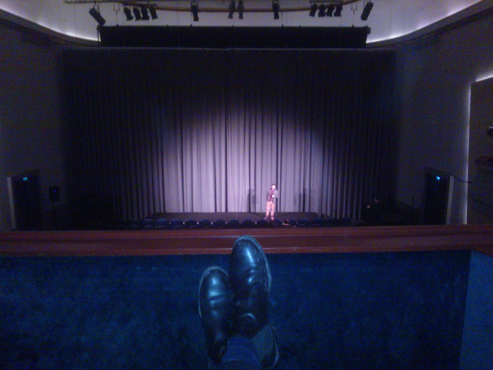 Its a tough life. Private balcony in the beautiful Babylon Kino.